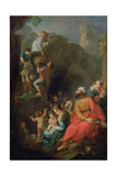 Tobit Escaping Captivity with His Companions, 1733 Giclee Print by Pierre Parrocel