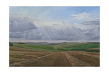 Looking Towards Heytesbury, Autumn Fields, 2009 Giclee Print by Peter Breeden