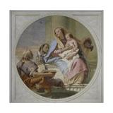 The Holy Family, 1749 Giclée-tryk af Giandomenico Tiepolo