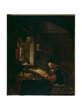 Writer in His Study Giclee Print by Thomas Wyck