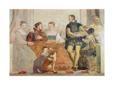 Detail of the Banquet, c.1570 Giclee Print by Giovanni Antonio Fasolo