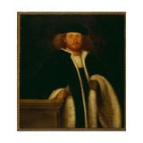 Portrait of a Man with a Fur Giclée-tryk af Giovanni de Busi Cariani
