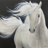 The White Stallion II Art by Nathalie Viens