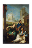 Tobit Becomes Blind, 1733 Giclee Print by Pierre Parrocel