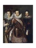 Portrait of Marie Madeleine of Austria, Cosimo II and Ferdinand II De Medici, c.1640 Giclee Print by Justus Sustermans