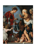 The Charity of St Lawrence Giclee Print by Bernardo Strozzi