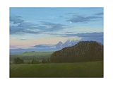 Winter Nightfall Along the Wessex Ridgeway, 2011 Giclee Print by Peter Breeden
