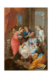 Tobias Healing His Father's Sight, 1733 Giclee Print by Pierre Parrocel