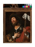 Saint Roch, c.1640 Lámina giclée por Bernardo Strozzi