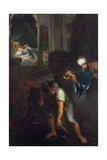 Raguel Digging a Grave, 1733 Giclee Print by Pierre Parrocel