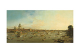 The River Thames with St. Paul's Cathedral on Lord Mayor's Day, c.1747-8 Giclee Print by  Canaletto