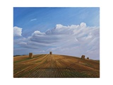Hay Bales, Cotley Hill, Wiltshire, 2010 Giclee Print by Peter Breeden