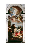 St Francis of Paola Heals the Dead Child Giclée-tryk af Sebastiano Ricci