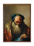 Old Man with Globe Giclee Print by Lorenzo Baldissera Tiepolo