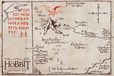 The Hobbit - Mountain Map Poster