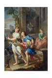 Departure of the Young Tobias, 1733 Giclee Print by Pierre Parrocel