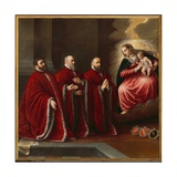 The Virgin in Glory with Three 'Avogadori' Giclee Print by Leandro Da Ponte Bassano