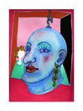 Puppet Head - Judy Resting (Bengal Rose), 2007 Giclee Print by Phil Redford