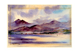 Mcgillicuddy Reeks Looking across from Inch, 1905 Giclee Print by Edward Adrian Wilson