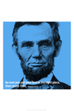 Abraham Lincoln Stand Firm iNspire 2 Quote Plastic Sign Wall Sign