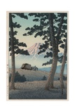 Mount Fuji Seen from Tagonoura in the Evening Wydruk giclee autor Kawase Hasui