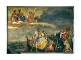A Family Saved from a Shipwreck Giclee Print by Girolamo Forabosco