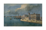 Cadorin's Design for the Riva Degli Schiavoni, Seen from the Ponte Veneta Marina, c.1851 Giclee Print by Luigi Querena
