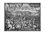 Battle of Lepanto Giclée-Druck von Giorgio Vasari