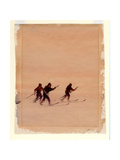 Men on Skis, 1901-04 Giclee Print by Edward Adrian Wilson