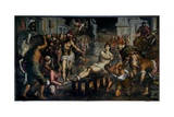 The Martyrdom of Saint Lawrence Giclee Print by  Palma Il Giovane