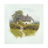 Young Girl by the Cottage Gate Giclee Print by Helen Allingham