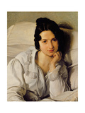 Carolina Zucchi, 1825 Giclee Print by Francesco Hayez