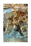 Detail from the Last Judgement, Sistine Chapel Giclee Print by  Michelangelo Buonarroti