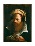 Oriental Man with a Book Giclee Print by Lorenzo Baldissera Tiepolo
