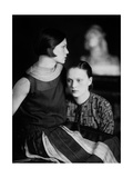 Portrait of Wanda and Marion Wulz, Trieste, c.1920 Giclee Print by Carlo Wulz