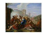 Rape of the Sabine Women, c.1690-99 Giclee Print by Nicolo Bambini