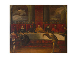 The Banquet of Doge Giovanni I Cornaro Giclee Print by Filipo Zaniberti
