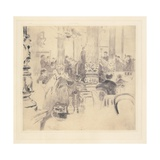 English Cafe, Munich, 1886 Giclee Print by Walter Richard Sickert