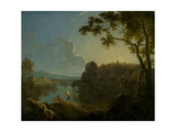 Landscape with Bathers, 1770-75 Giclee Print by Richard Wilson