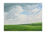 Fields and Clouds, Vale of Pewsey, 2010 Giclee Print by Peter Breeden