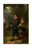 The Orphans, 1854 Giclee Print by Thomas Faed