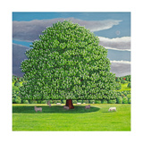 Homage to Horse Chestnut Tree, 2012 Giclee Print by Liz Wright