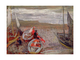 Boats on the Beach, Southwold, 1888-89 Giclee Print by Philip Wilson Steer