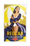 Redcar' - British Railways Poster Giclee Print by Laurence Fish