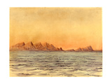 Sunset, Simon's Bay, South Africa Giclee Print by Edward Adrian Wilson