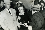 Lee Harvey Oswald being Shot by Jack Ruby Plastic Sign Plastic Sign