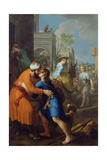 Tobias Bidding Farewell to His Father-In-Law, Raguel Giclee Print by Pierre Parrocel