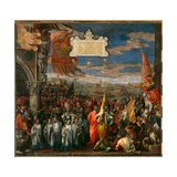 Doge Andrea Contarini's Return to Venice after the Victory over the Genovese at the Battle of… Giclee Print by Paolo Veronese