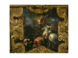 Victory of the Venetians over the Ferrarese at Polesella Giclee Print by Francesco Bassano