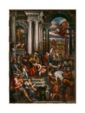 The Young Alexios Asks for Help from Doge Enrico Dandolo Giclee Print by Andrea Vicentino